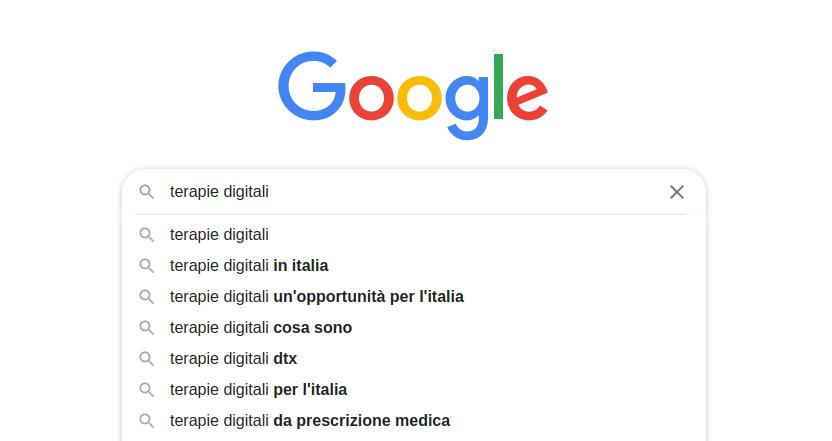 Ricerche Google per Terapie Digitali